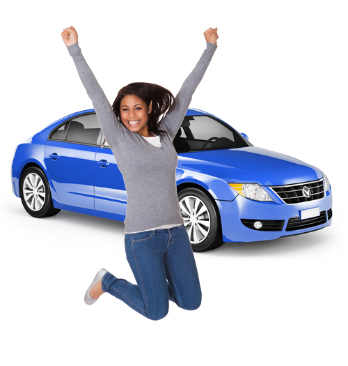 happy-woman-jumping-beside-car